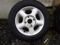 Alloys & Tyres 13 x 5.5 Hyundai, Kia, Honda, Nissan, Daewoo,