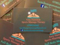 Sports massage therapy strictly professional services only so please do not ask for any 'extras'