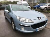 2006 Peugeot 407 SW diesel estate, starts and drives well, does export, car located in Gravesend Ken