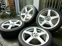 "17"" ALLOY WHEELS WITH TYRES, MINI, FORD, HONDA, FIESTA, RENAULT, HONDA, YARIS, T"