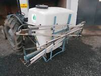 Tractor three point linkage pro driven weedkiller crop sprayer 600 litre