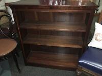 Attractive Vintage Mahogany Veneer Open Bookcase