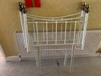 Single bed headboards metal white cottage bedroom furniture