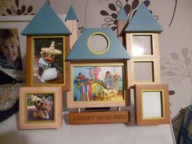 Disney picture frame. genuine item in spruce walnut mahogany and teak quality item