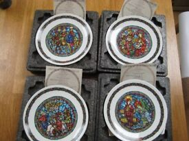 Collector's plates - Christmas Series from D'Arceau Limoges