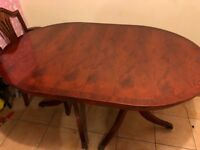 Wooden dining table extendable 6 chairs