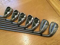 Taylormade RBZ rocketballz graphite irons 4 to pitching wedge like new