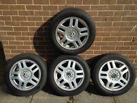 "VW Golf/Bora/Beetle/Passat 4x 16"" Montreal Alloys with tyres"