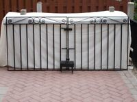 Heavy wrought iron gates in very good condition