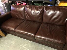 Free 3 seater leather sofa settee