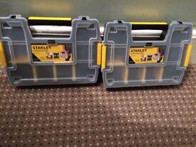 2x Stanley sort master screw trays
