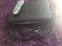 Sky hd box and remote/ cables