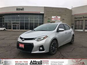 2016 TOYOTA COROLLS TECH PKG NAVI, LEATHER, SUNROOF, FOG