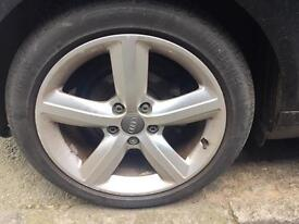 "Audi A3 8p sport alloy wheels 17"" genuine A4 5x112 vw golf PASSAT caddy touran"