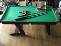 6ft standing snooker/pool table.