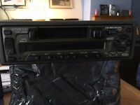 Kenwood Car radio/cassette with 6 disc changer and cables