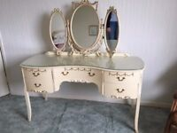 Louis XIV reproduction bedroom furniture - bed, wardrobes, dressing and bedside tables