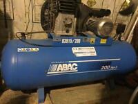 ABAC INDUSTRIAL AIR COMPRESSOR 200 Litre