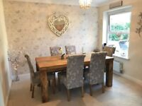 Solid Mango Dining Suite * Immaculate* Table + 6 Chairs