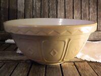 Vintage Mason Cash & Co (24cm) Mixing Bowl Kitchenalia Earthenware
