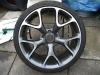 "Vauxhall Vectra/Zafira/Astra 19"" VXR/GSI/SRI Alloy Wheel With *Good* Tyre. 5x110. W0W"