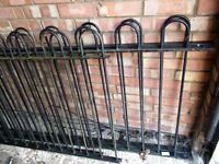IRON RAILINGS--4 SECTIONS--TOTAL 29ft long X 3ft high--£90