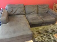 Brown corner sofa