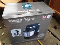 Swan retro black food mixer - new in box