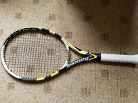 Babolat Aeropro Drive GT Strung Grip 3:4 3/8 BN Never Used