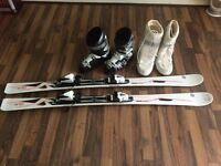 Ladies Skis and boots