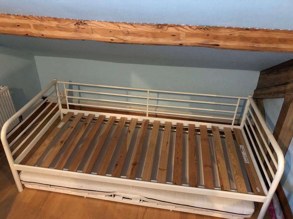 Ikea Sultan Lade Metal Framed Single Bed In Huddersfield West