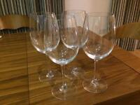 4 Large Wine Glasses