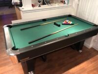 7ft x 4ft powerglide pool table, great condition, hardly used. Que's, brush and chock all included
