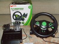 VIBRATION STEERING WHEEL FOR XBOX360/PS3/PS2/PC USB