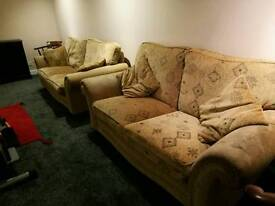 Material two seater sofas