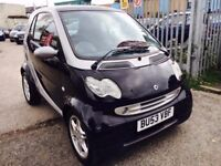 SMART CITY COUPE AUTOMATIC 0.7 PASSION PETROL 2003 SERVICE HISTORY AIRCON ALLOYS LOW MILEAGE
