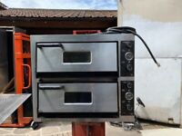"""COMMERCIAL CATERING KITCHEN 4X4 PIZZA OVEN =TOTAL 8X 13"""" TAKE AWAY"""
