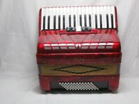 Accordion 72 bass Sila Red 3 voice