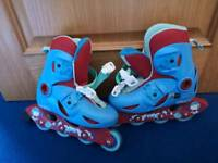 Childrens Roller Blades. Size 11.5 to 13. Extendable ones