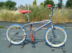 """VINTAGE SKYWAY REPLICA OLD MID SCHOOL BMX BICYCLE 20"""" WHEELS GREAT CONDITION"""
