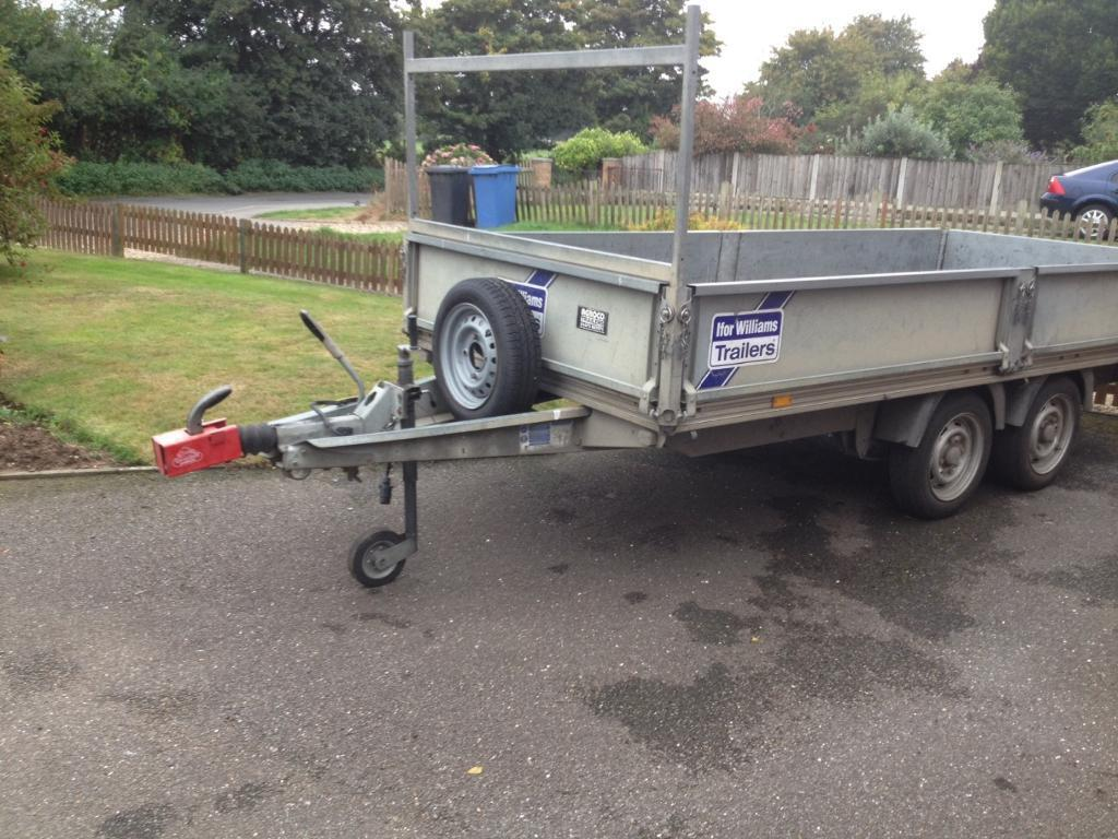 Ifor williams 12ft 5ft trailer with drop sides in for Fish house drop down wheel kit