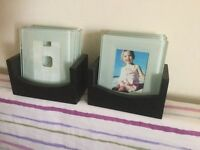 GLASS PHOTO COASTERS - 2 SETS OF 4 - ADD YOUR FAVOURITE PHOTOS