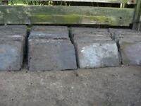 FREE - old roof slates, whole & broken up - ideal for garden decoration, slate chippings.