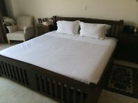 """Extra Large Double Bed frame for mattress 2m x 2m (eastern King 6'6""""x6'6"""")"""