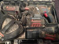 Bosch 36v Cordless sds drill 3 battery's