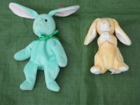 Hippity Beanie Baby Rabbit for £8.00 and Grace Beanie Baby Rabbit for £ 6.00