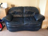 2 seater dark blue leather? Sofa
