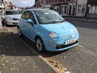 Fiat 500 lounge 2012 blue