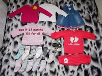 Baby girl clothes 9-12m