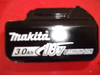18 V 3 Ah MAKITA li-ion battery BL1830B